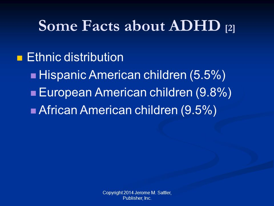 Some Facts about ADHD [2]